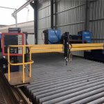 cortadora de plasma cnc automatizada doble conducción 4m span 15m rieles