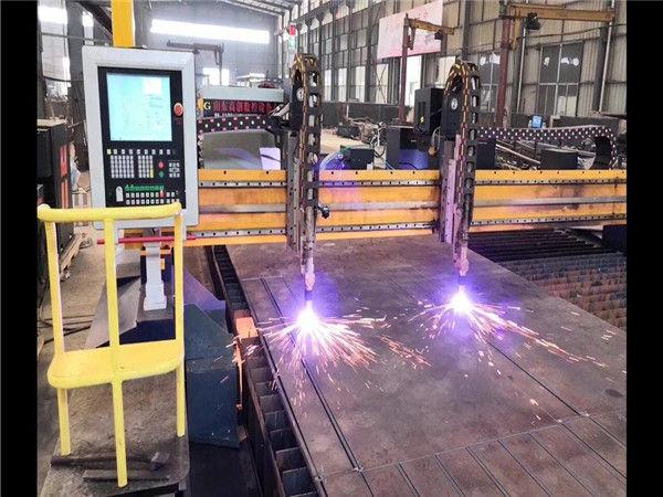 Máquina de corte por plasma CNC de pórtico de doble accionamiento Línea de producción de vigas en H Sistema Hypertherm CNC