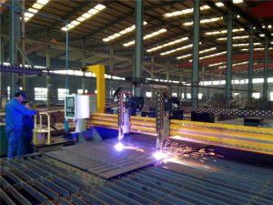 Máquina de corte por plasma CNC de pórtico y máquina de corte por llama para placa de acero