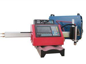 máquina de corte por plasma cnc portátil máquina de corte por gas automática vía de acero