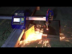Máquina de corte por plasma de llama de tubo cnc portátil de bajo costo para cortar acero inoxidable de metal