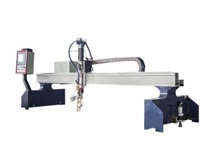pequeña máquina de corte de metal de pantógrafo cnc de pórtico / cortador de plasma cnc