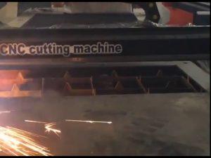Garantía comercial precio barato cortador portátil cnc máquina de corte por plasma para acero inoxidable matel iro